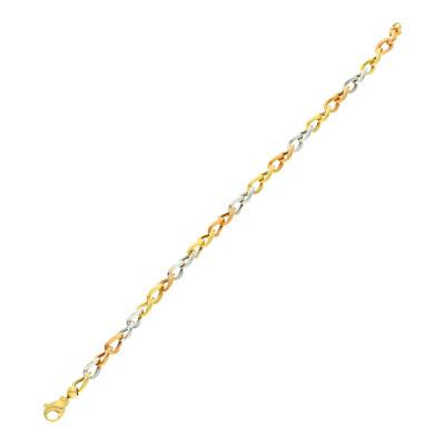A&A Bransoletka z żółtego, białego i różowego złota