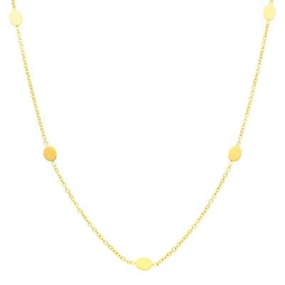 Naszyjnik celebrytka z żółtego złota
