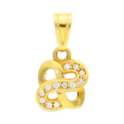 Przywieszka z żółtego złota z cyrkoniami