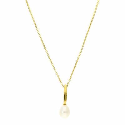 Naszyjnik z żółtego złota z perłą hodowlaną