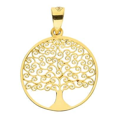 Przywieszka z żółtego złota- drzewko szczęścia