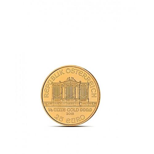 FILHARMONIK 1/4 OZ - Złota moneta 1/4 uncji Filharmonik Wiedeński - 25EUR
