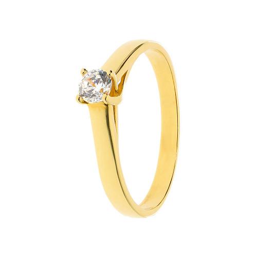 Pierścionek złoty z cyrkonią