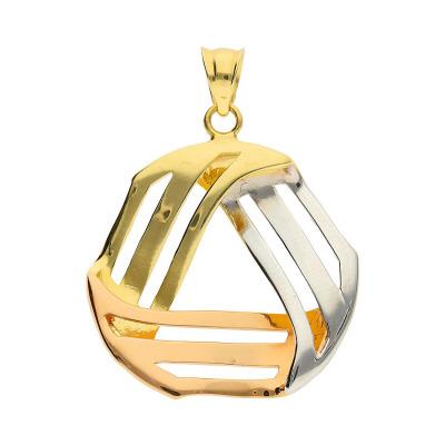 Przywieszka w trzech kolorach złota