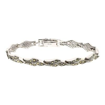 Bransoletka srebrna z markazytami