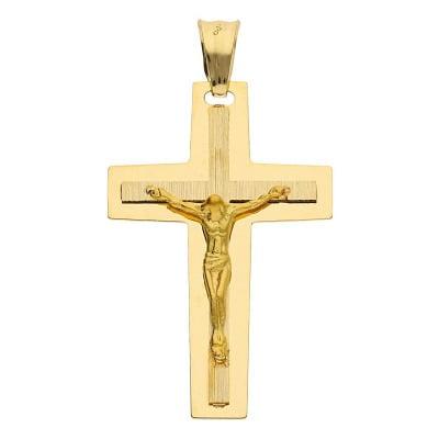 Przywieszka krzyżyk z żółtego złota
