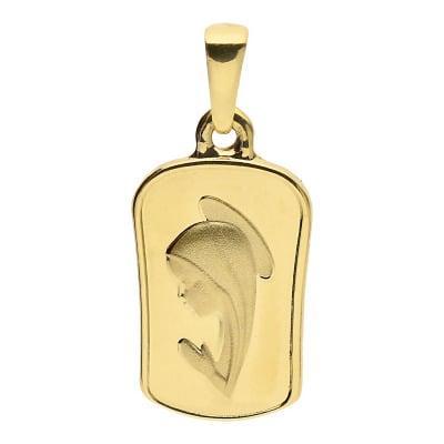 Przywieszka medalik z żółtego złota