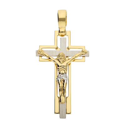 Przywieszka krzyżyk ze złota