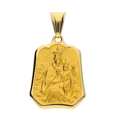 Przywieszka szkaplerz z żółtego złota