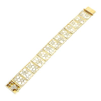 Bransoletka złota z brylantami