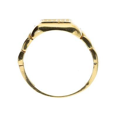 Sygnet złoty z cyrkoniami