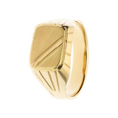 Sygnet z żółtego złota