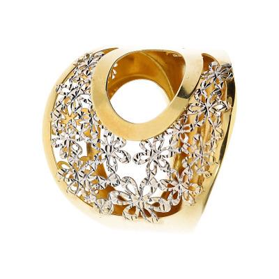 Pierścionek z dwukolorowego złota