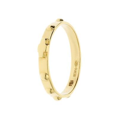 Złoty pierścionek- różaniec