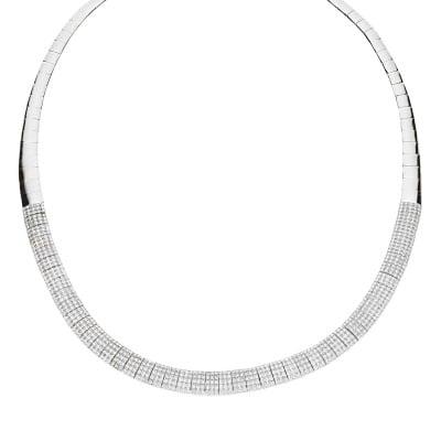 Naszyjnik srebrny z cyrkoniami
