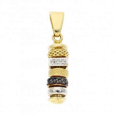 Przywieszka z dwukolorowego złota z cyrkoniami