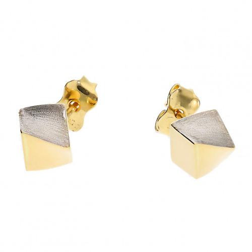Kolczyki z żółtego i białego złota