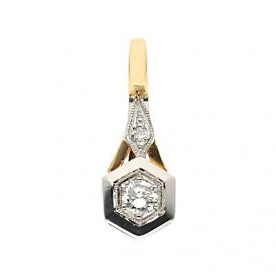 Przywieszka złota z brylantami 0,24 ct Vs/G