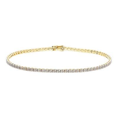 Bransoleta złota z diamentami 0,51 ct. Si/H
