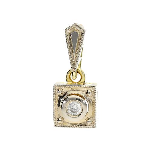 Przywieszka złota z brylantami