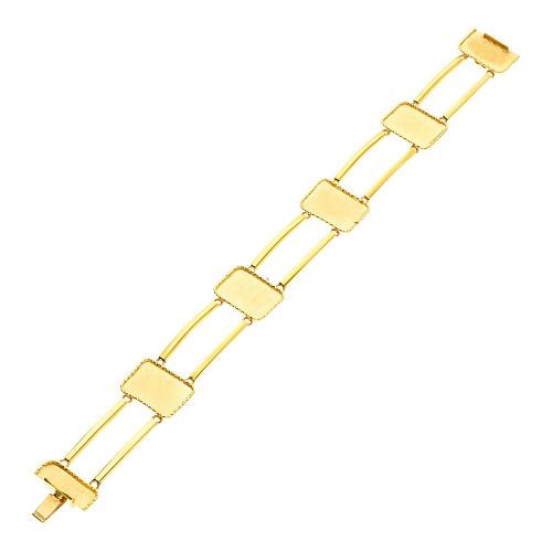 Bransoletka z żółtego złota szeroka