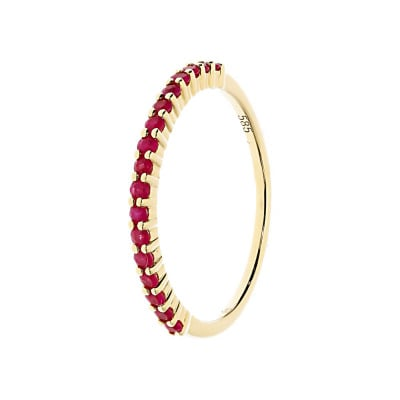 Złoty pierścionek z rubinami 0,32 ct