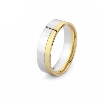 Obrączka z dwukolorowego złota