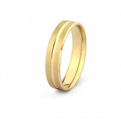 Obrączka z żółtego złota