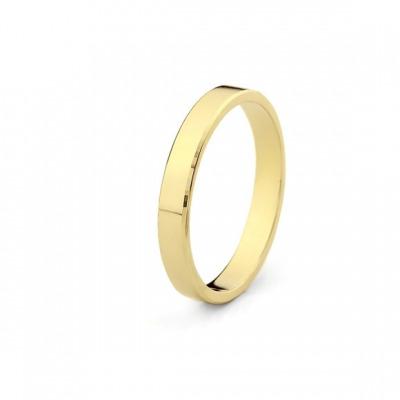 Obrączka z żółtego złota z diamentowaniem