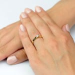 Pierścionek z żółtego i białego złota z brylantem