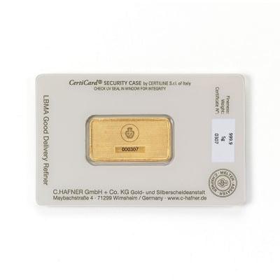 Sztabka 5G - Złota sztabka 5 g