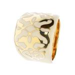 Pierścionek z żółtego złota z emalią