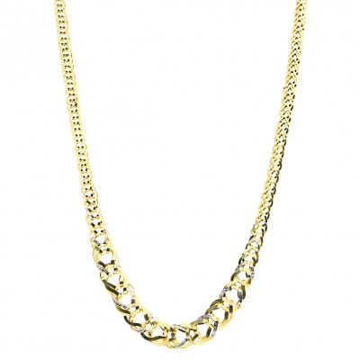 Naszyjnik z dwukolorowego złota