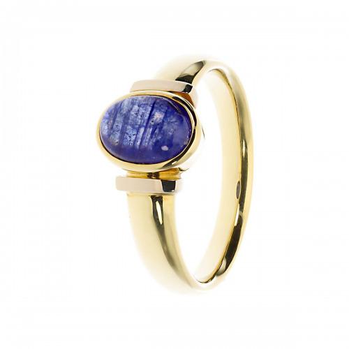 Pierścionek złoty z szafirem 1,50 ct
