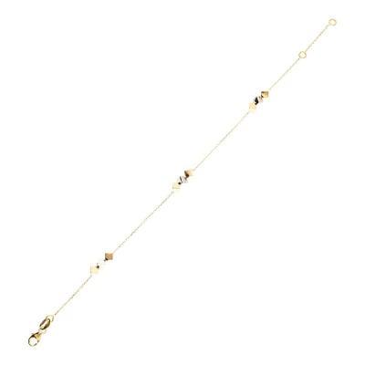 Bransoletka z trzykolorowego złota