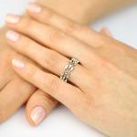 A&A Wyjąkowy pierścionek z bagietowymi brylantami