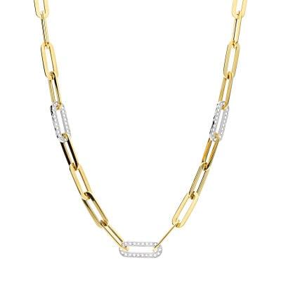 Naszyjnik z żółtego i białego złota