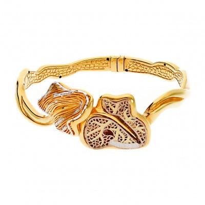 Bransoletka w trzech kolorach złota