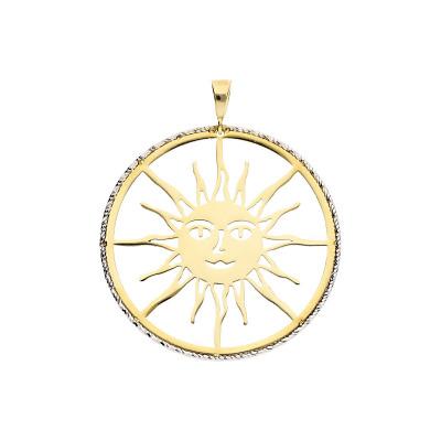 Przywieszka z żółtego i białego złota
