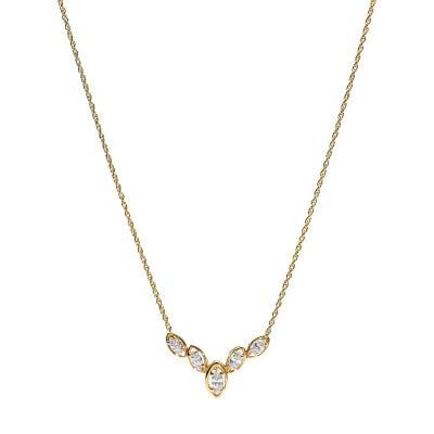Naszyjnik złoty z diamentami 0,68 ct Si/H