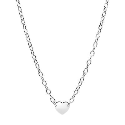 Naszyjnik srebrny z ozdobnym sercem