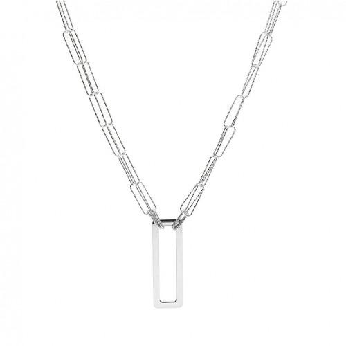 Naszyjnik srebrny z geometryczną ozdobą