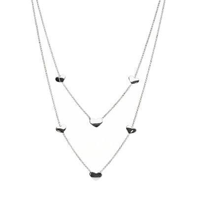 Naszyjnik srebrny z ozdobnymi sercami