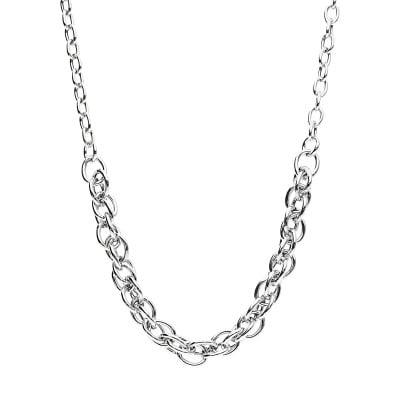Naszyjnik srebrny o grubym splocie