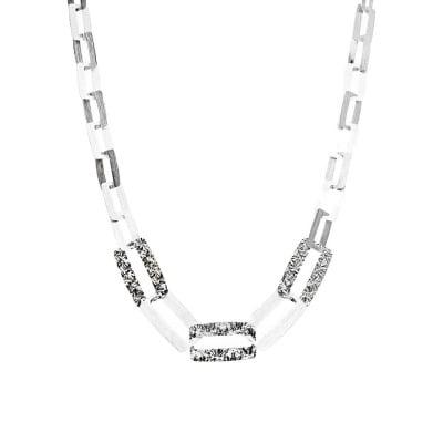 Naszyjnik srebrny z dużymi ogniwami