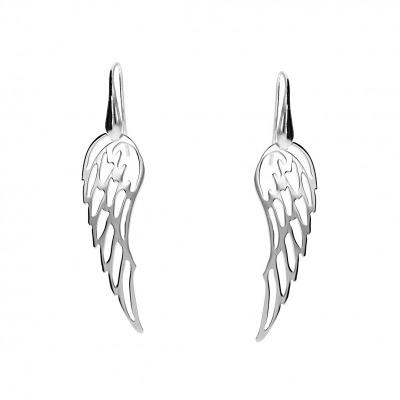 Kolczyki srebrne skrzydła