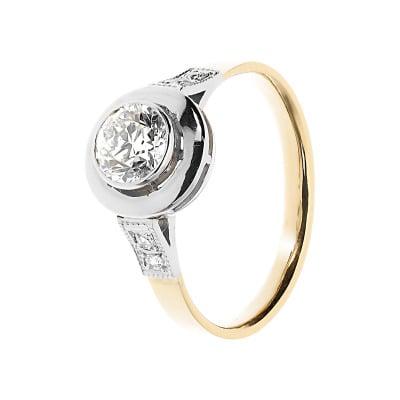 Pierścionek złoty z brylantami 0,75 ct.