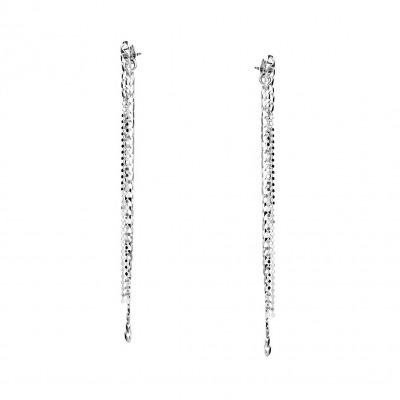 Kolczyki srebrne wiszące kaskadowe