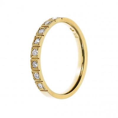 Pierścionek złoty z brylantami 0,20 ct