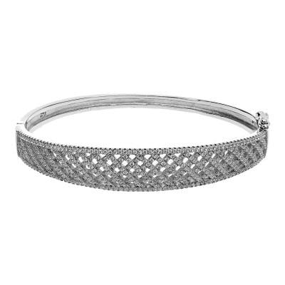 Bransoletka srebrna z cyrkoniami